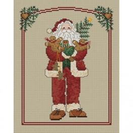 Схема Gingerbread Santa Sue Hillis Designs