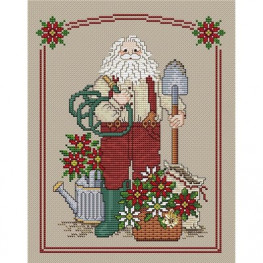 Схема Poinsettia Santa Sue Hillis Designs