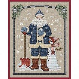 Схема Snowflake Santa Sue Hillis Designs