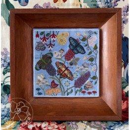 Схема Butterfly Garden The Blue Flower