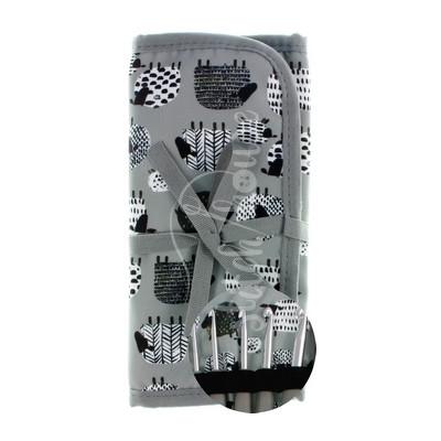Набор вязальных алюминиевых крючков (серый) DMC U1965
