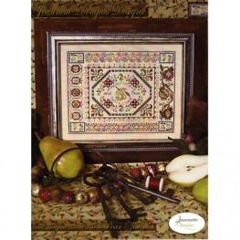 Схема Pomegranate & Pear Stitches - Stitches Series Jeannette Douglas
