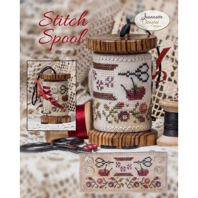 Схема Stitch Spool w/Threads, Buttons & Ribbon Jeannette Douglas