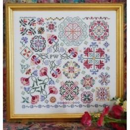 Схема Swirling Flowers Rosewood Manor S1060