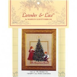 Схема Oh, Christmas Tree Lavender and Lace LL24