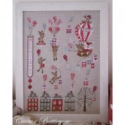 Santa Claus Montgolfier Cuore e Batticuore