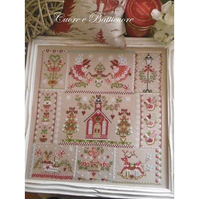 Схема Christmas in Quilt Cuore e Batticuore