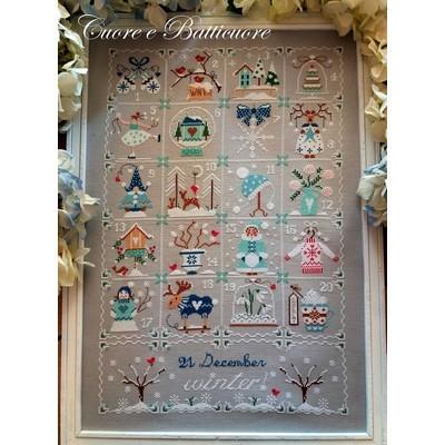 Схема Shabby Winter Calendar Cuore e Batticuore