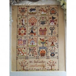 Схема Shabby Autumn Calendar Cuore e Batticuore
