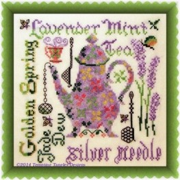 Схема Lavender Mint Tempting Tangles Designs