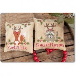 Схема Santa's Fox & Raccoon Madame Chantilly