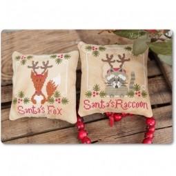 Santa's Fox & Raccoon Madame Chantilly