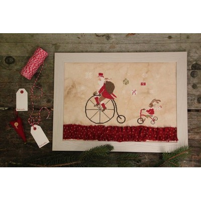 Santa on the Bike Madame Chantilly