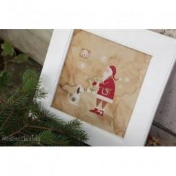 Santa and the Dog Madame Chantilly