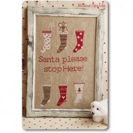 Схема Santa Stop Here Madame Chantilly