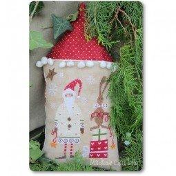 Схема Santa With His Helper – White Madame Chantilly