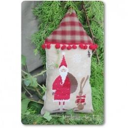 Схема Santa with his Helper – Red Madame Chantilly