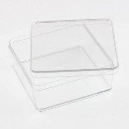 Квадратний пластиковый бокс 9.3 х 9.3 х 4 см