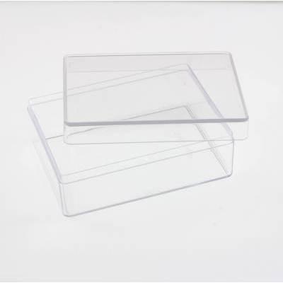 Прямоугольный пластиковый бокс 9 х 12 х 4.5 см