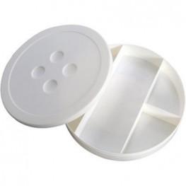 Коробка для зберігання дрібниць з відділеннями (білий)