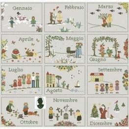 Calendario 12 mesi Sara Guermani