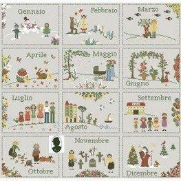Схема Calendario 12 mesi Sara Guermani