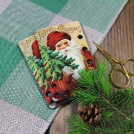 Органайзер для мулине Joyful Christmas Vintage Postcard Kelmscott Designs