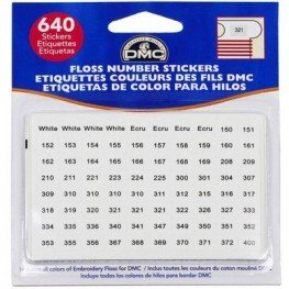 Наклейки для бобін з номерами для муліне DMC 6103