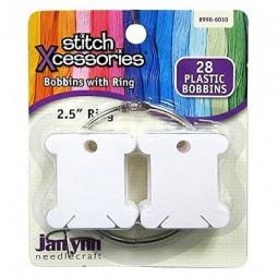 Пластиковые бобины с кольцом для хранения мулине Janlynn 28 шт., арт. 998-6010