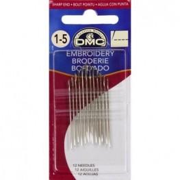 Иглы для вышивания DMC Embroidery №1-5
