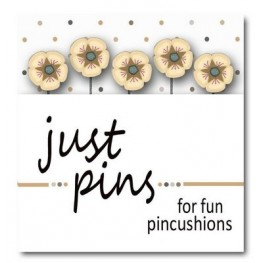 Булавки Just Cream Posies Just Another Button Company jp534