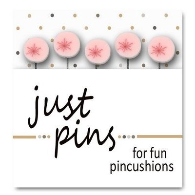 Булавки Just Red Sparkles on Pink Just Another Button Company jp501