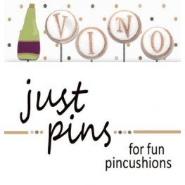 Булавки V is for Vino Just Another Button Company jp207