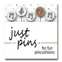 Булавки Music Assortment Just Another Button Company jp106