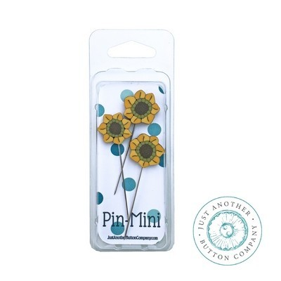 Булавки Pin-Mini 3 Sunflowers Just Another Button Company jpm452