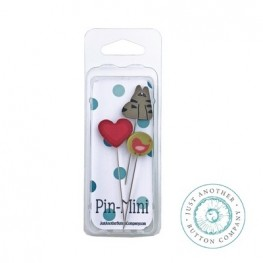 Булавки Pin-Mini Cat Lover Just Another Button Company jpm447