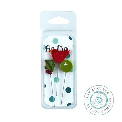 Булавки Pin-Mini Holly-Day Cheer Just Another Button Company jpm437