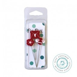 Булавки Pin-Mini Red and White Just Another Button Company jpm411