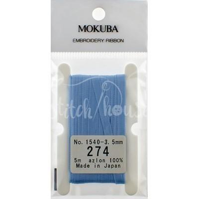 Стрічка для вишивки 274 Baby Blue Mokuba 5 м