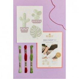 Набор для вышивания Cactus Point De Croix DMC