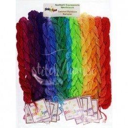 Комплект нитей Dinky Dyes Twisted Rainbow Sampler Northern Expressions