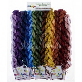 Комплект нитей Dinky Dyes Twisted Band Sampler Northern Expressions Needlework