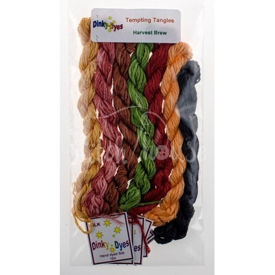 Комплект нитей Dinky Dyes Harvest Brew Tempting Tangles Designs