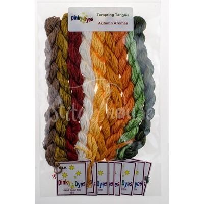 Комплект нитей Dinky Dyes Autumn Aromas Tempting Tangles Designs