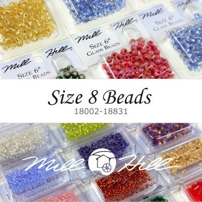 Бисер Mill Hill Glass Beads Size 8 (18002-18831)