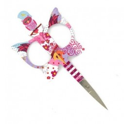 Ножницы для рукоделия Owl Scissors Pink Bohin
