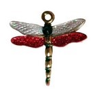Painted Dragonfly Charm