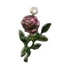Painted Rose Charm
