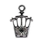 Silver Crown Charm