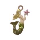 Painted Mermaid Charm